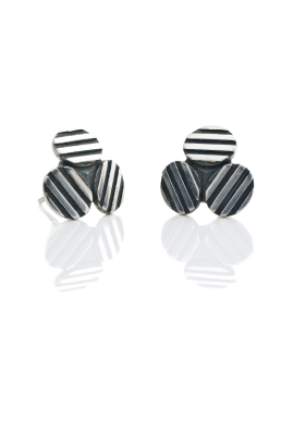 "Stud earrings ""Striped TRIO"""
