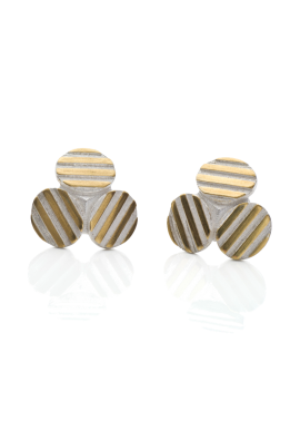 Stud earrings ''Striped TRIO''