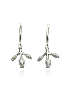"Silver earrings ""BUDS"""