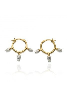 Hoop earrings ''BUDS''