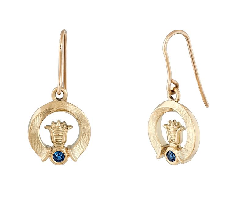 auskarai su safyrais auste jewellery