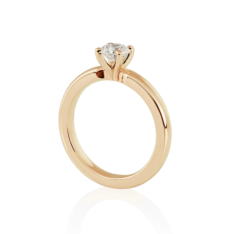 yellow gold engagement ring auste jewellery